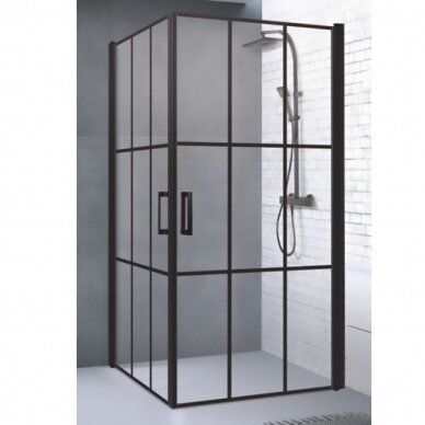 Dušo kabina Baltijos Brasta Nero Cube Viktorija 87,5 cm 2