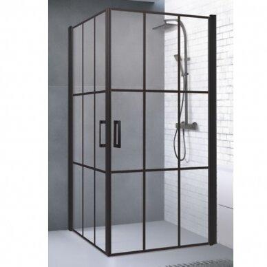 Dušo kabina Brasta Glass Nero Cube Viktorija 87,5 cm 2