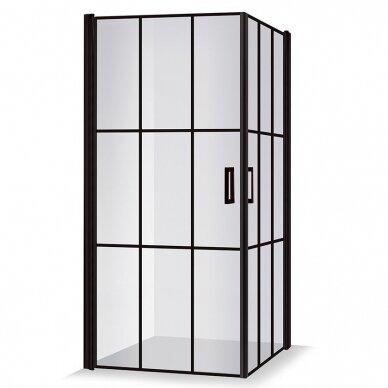 Dušo kabina Brasta Glass Nero Cube Viktorija 87,5 cm