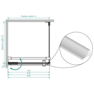 Dušo kabina Brasta Glass Nora 80, 90, 100 cm 10