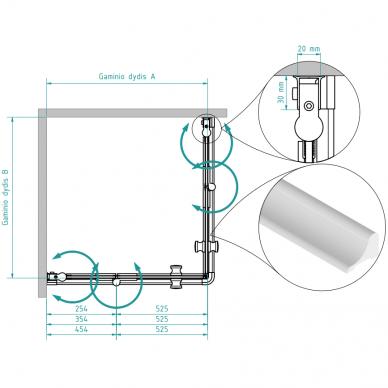 Dušo kabina Brasta Glass Simona 80, 90, 100 cm 5