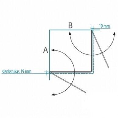 Dušo kabina Brasta Glass Liepa 80, 90, 100 cm 2
