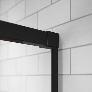 Dušo kabina Radaway Idea Black Kdd 80, 90, 100, 110, 120 cm 3