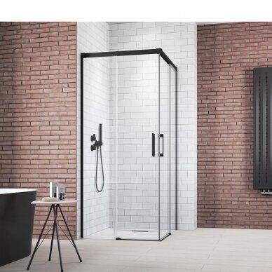 Dušo kabina Radaway Idea Black Kdd 80, 90, 100, 110, 120 cm