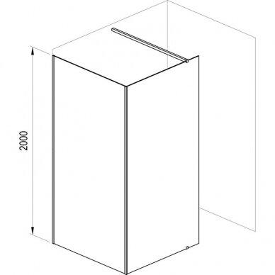 Dušo kabina Ravak Walk-in Corner 110, 120 cm 9