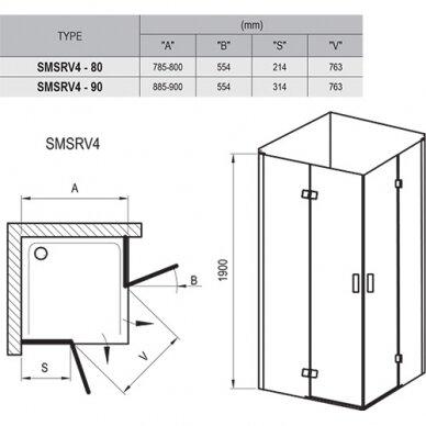Dušo kabina SmartLine SMSRV4 80, 90 cm 6