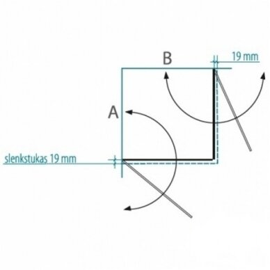 Dušo kabina Brasta Glass Viktorija 80, 90, 100 cm 2