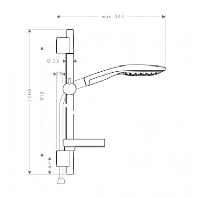 Dušo komplektas Hansgrohe Raindance Select S 150 2