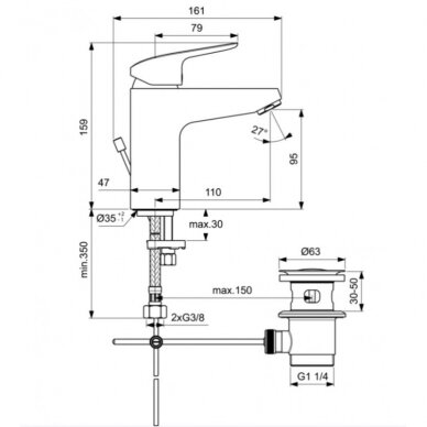 Dušo komplektas Ideal Standard Ceraflex 3IN1 6