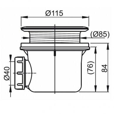 Ravak dušo komplektas: kabina SRV2-90S+ SRV2-90S + padėklas + sifonas 10