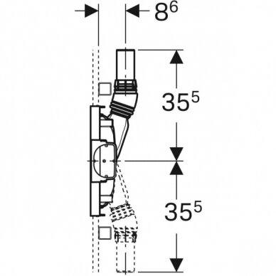 Dušo latakas Geberit Duofix ShowerDrain H50 3