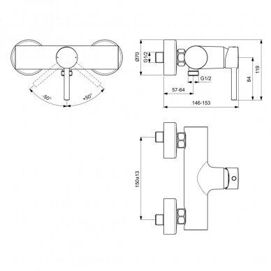 Dušo maišytuvas Ideal Standard Ceraline 3