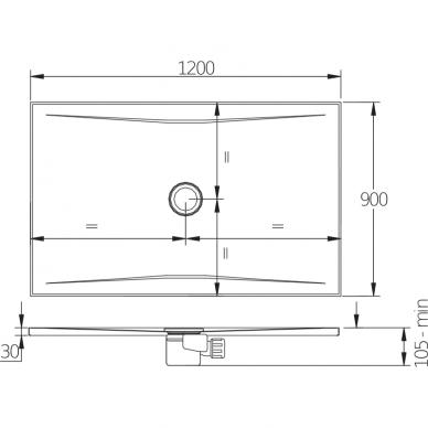 Plieninis dušo padėklas Jika Pure 120 cm 3