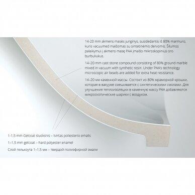 Dušo padėklas PAA Classic Ro R550 80, 90, 100 cm 5