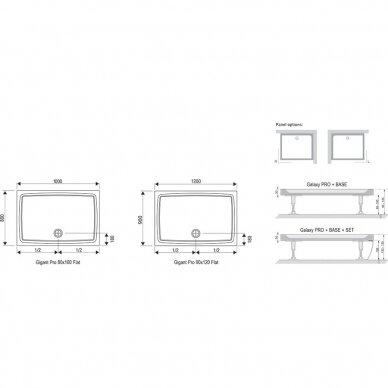 Dušo padėklas Ravak Gigant Pro Flat 100, 120 cm 4
