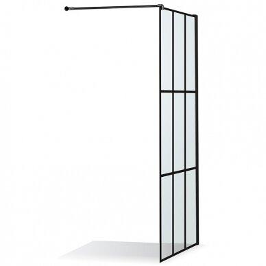 Dušo sienelė Baltijos Brasta Nero Cube Ema 80, 100 cm 2