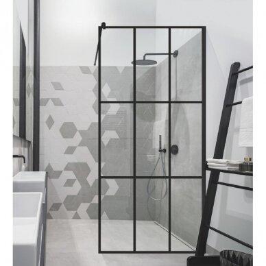 Dušo sienelė Brasta Glass Nero Cube Ema 80, 100 cm