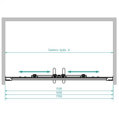 Dušo sienelė nišoms Svaja plius 160, 170, 180 cm 5