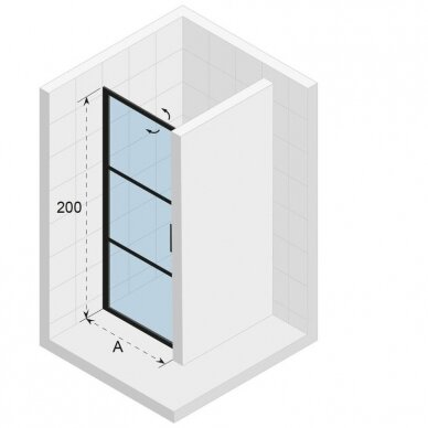 Dušo sienelė Riho Grid GB101 juoda 3