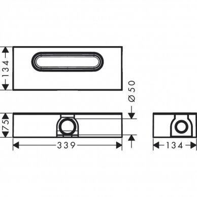 Dušo sifonas Hansgrohe uBox 3