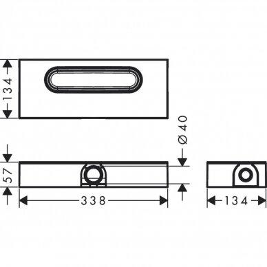Dušo sifonas Hansgrohe uBox 2