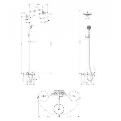 Dušo sistema Hansgrohe Croma 220 Showerpipe 4