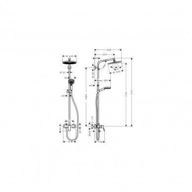 Dušo sistema Hansgrohe Crometta S 1jet 2