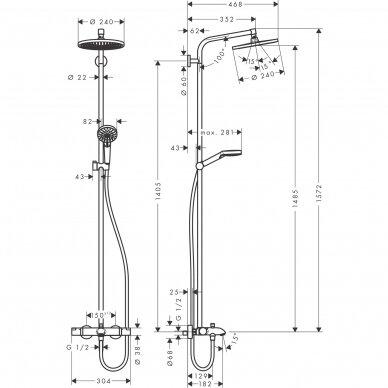 Dušo sistema Hansgrohe Crometta S 240 5
