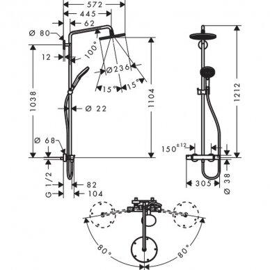 Dušo sistema Hansgrohe Raindance S240 3