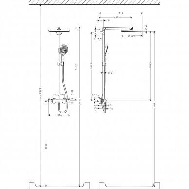 Dušo sistema Hansgrohe Raindance S300 4