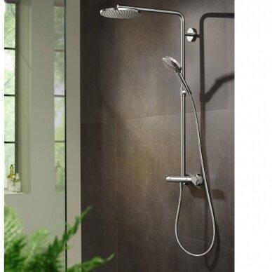Dušo sistema Hansgrohe Raindance Select S Showerpipe 240 1jet PowderRain su termostatiniu maišytuvu 3