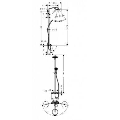 Dušo sistema voniai Hansgrohe Raindance Select240 Showerpipe 3