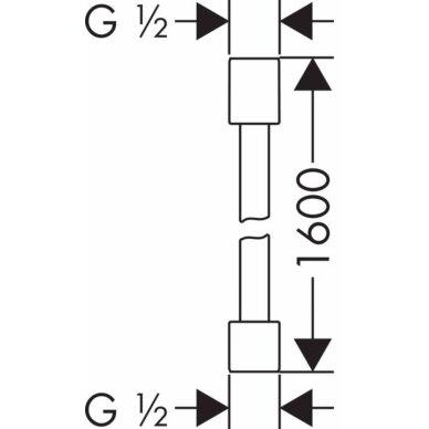 Dušo žarna Axor Starck Metal Effect, 160cm. 2