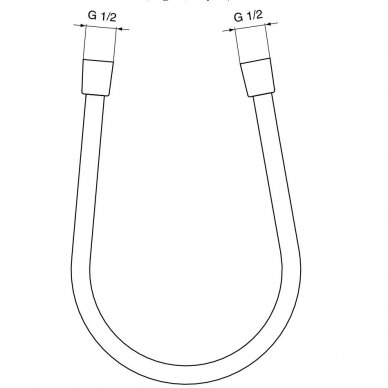 Dušo žarna Ideal Standard 160 cm 2