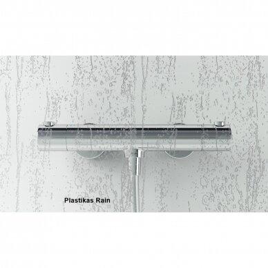 Dviejų dalių sulenkiama vonios sienelė Ravak VSK2 Rosa 140, 150, 160, 170 cm 3