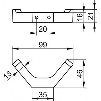 Kabliukas dvigubas Keuco Edition 11 2