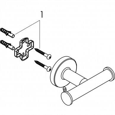 Dvigubas rankšluosčių kabliukas Hansgrohe Logis Universal 3