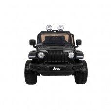 Elektrinė mašinėlė Jeep Wrangler Rubicon, juodas