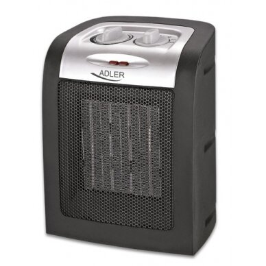 Elektrinias šildytuvas Adler AD 7702 PTC Heater, Number of power levels 2, 1500  W, Number of fins Inapplicable, Black