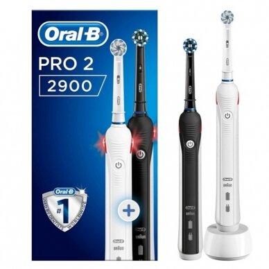 Elektrinis dantų šepetėlis Oral-B Pro 2 2900 2vnt.