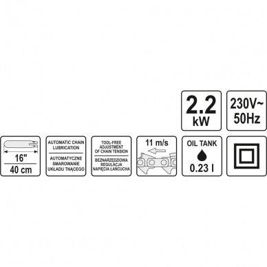 Elektrinis grandininis pjūklas Yato 2,2 KW 5