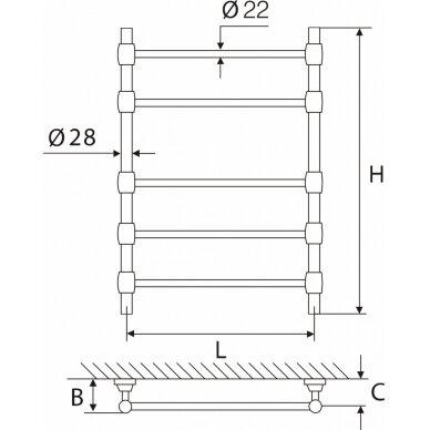 Žalvarinis gyvatukas Elonika EŽR 550 poliruotas 2