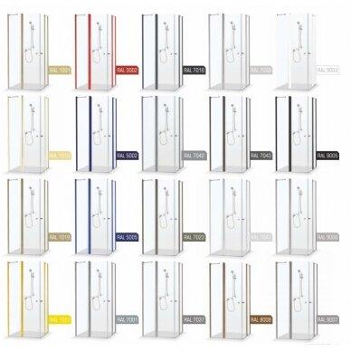 Dušo sienelė Brasta Glass Ema 80, 90, 100, 110, 120, 130, 140 cm 10