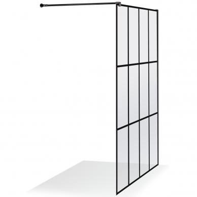 Dušo sienelė Brasta Glass Nero Cube Ema 80, 100 cm 4