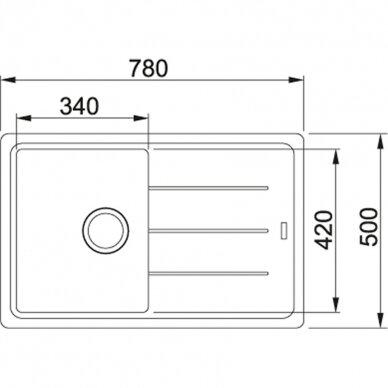Akmens masės plautuvė Franke Basis BFG 611, eks. v. 10
