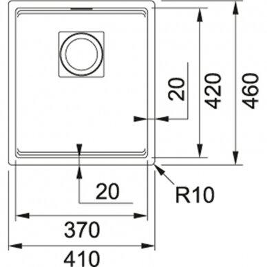 Akmens masės plautuvė Franke Kubus 2 STG KNG 110-37, eks. v. 11