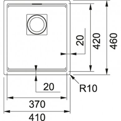 Akmens masės plautuvė Franke Kubus 2 STG KNG 110-37, eks. v. 10