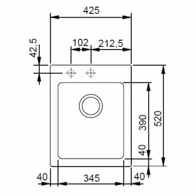 Akmens masės plautuvė Franke Maris MRG 610-42, eks. v. 11