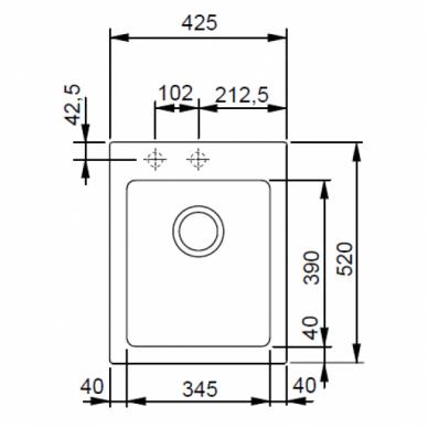 Akmens masės plautuvė Franke Maris MRG 610-42, eks. v. 6