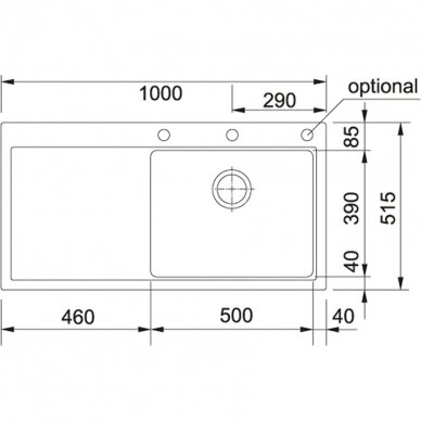 Akmens masės plautuvė Franke Mythos MTG 611, 100x51,5 cm, eks. v. 14